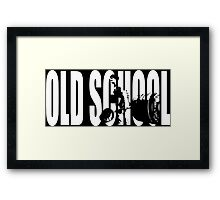 Old School Strength (Deadlift Iconic) Framed Print