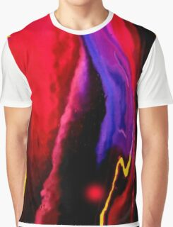 Bold color flow Graphic Contrast Graphic T-Shirt
