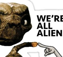ET AND ROGER ALIEN LOVE Sticker
