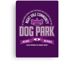 Night Vale Community Dog Park Canvas Print