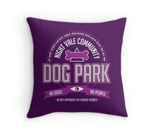 Night Vale Community Dog Park Throw Pillow