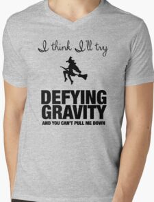 Defying Gravity Mens V-Neck T-Shirt