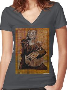 Willie's Guitar Women's Fitted V-Neck T-Shirt