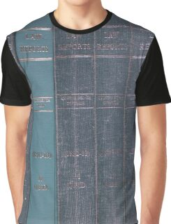 Antique Law Books Row Pattern Graphic T-Shirt