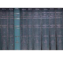 Antique Law Books Row Pattern Photographic Print