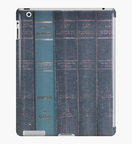 Antique Law Books Row Pattern iPad Case/Skin