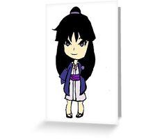 Maya Fey Chibi Greeting Card