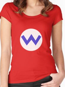 Wario Symbol Women's Fitted Scoop T-Shirt