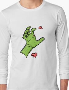 Gruesome Zombie Hand Long Sleeve T-Shirt