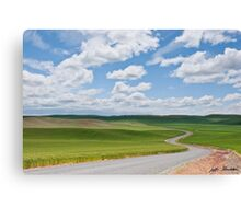 Road Winding Through the Palouse Wheatfields Canvas Print