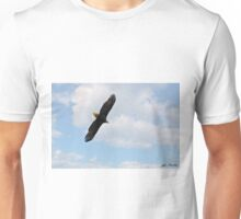 Bald Eagle Flying in the Clouds Unisex T-Shirt
