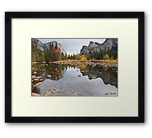 El Capitan Reflected in the Merced River Framed Print
