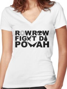 Part Of The Group (Black) Women's Fitted V-Neck T-Shirt