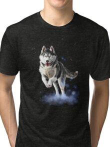 SIBERIAN HUSKY RUN Tri-blend T-Shirt