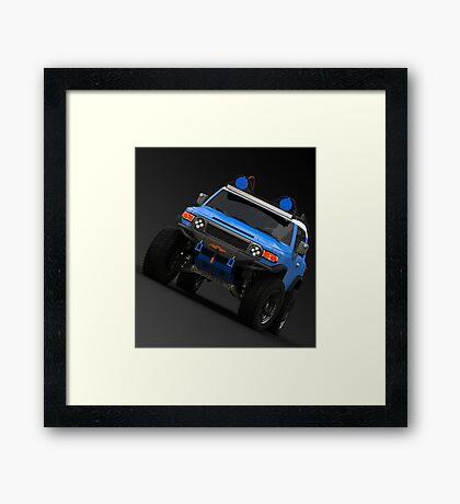 FJ CRUISER BLUE Framed Print