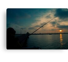 Fishing For Light Canvas Print