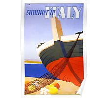 Summer in Italy Vintage Travel Poster Poster