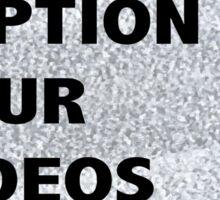 """Caption Your Videos"" TV Sticker"