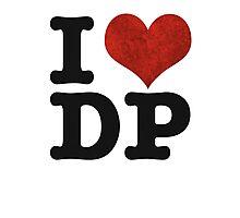 I heart DP on white Photographic Print
