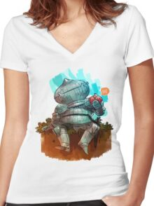 Onion Knight Women's Fitted V-Neck T-Shirt