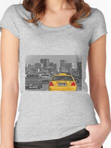 Welcome to San Diego-Yellow Cab Women's Fitted Scoop T-Shirt