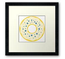 White Star Donut Framed Print
