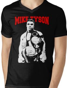 Mike Tyson With Trophy Mens V-Neck T-Shirt