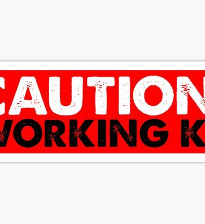CAUTION: WORKING K9 Sticker