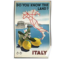 Do you know the land? Italy Vintage Travel Poster Poster