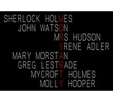 MORIARTY (Sherlock Characters) Photographic Print