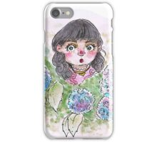 Little Lily Among Hydrangeas iPhone Case/Skin