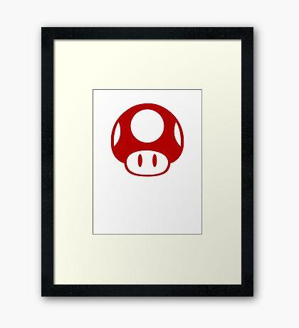 Super Mario Bros Mushroom Logo Framed Print