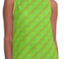 geometric green stripes Contrast Tank
