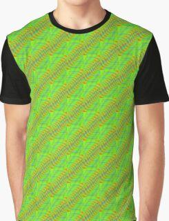 geometric green stripes Graphic T-Shirt