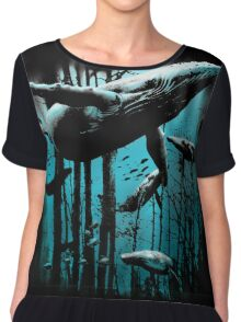 Whale Forest Chiffon Top