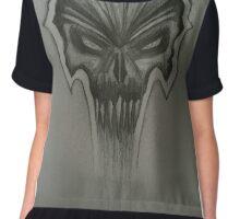 Freehand evil skull design.  Chiffon Top