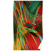 Red Yellow Green Abstract Poster
