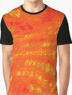 Red & Yellow Abstract Graphic T-Shirt