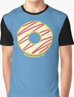 White Striped Donut Graphic T-Shirt