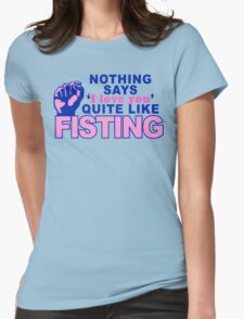 """Fisting"" Womens Fitted T-Shirt"