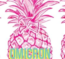 Pineapple Alpha Omicron Pi Sticker