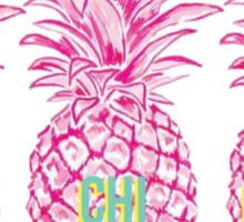 Pineapple Alpha Chi Omega Sticker