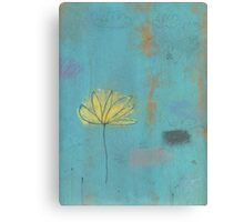 Yellow lotus Canvas Print