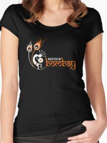 Wasted In Bombay - Orange Logo Promo Women's Fitted Scoop T-Shirt