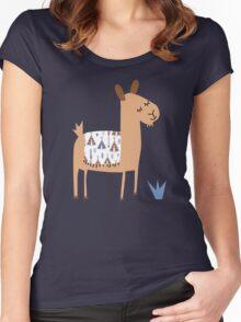 Alpaca Women's Fitted Scoop T-Shirt