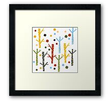 woodland forest Framed Print