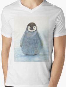 Baby Emperor Penguin Mens V-Neck T-Shirt