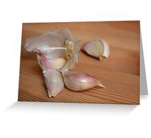 Allium Sativum - Knoblauch {5} Greeting Card