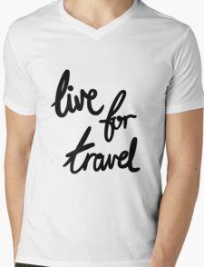 Live for Travel Mens V-Neck T-Shirt