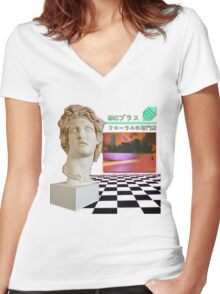 Macintosh Plus - Floral Shoppe Women's Fitted V-Neck T-Shirt